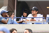 FLUSHING NY- SEPTEMBER 04: ***NO NY DAILIES*** Actor James Franco watches from a suite during a match on Arthur Ashe Stadium during the US Open at the USTA Billie Jean King National Tennis Center on September 4, 2017 in Flushing Queens.Credit: mpi04/MediaPunch