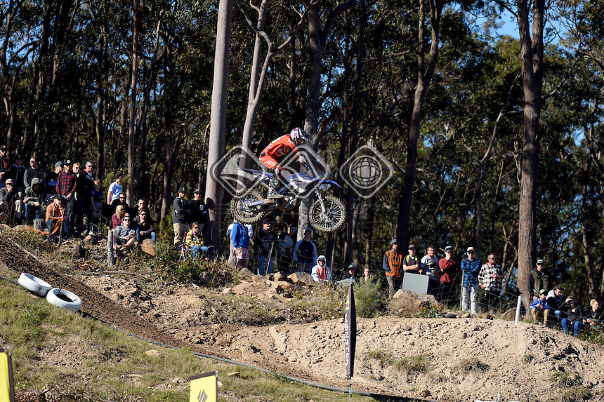 Mitchell_Evans / Yamaha<br /> MX Nationals / Round 6 / MXD<br /> Australian Motocross Championships<br /> Raymond Terrace NSW<br /> Sunday 5 July 2015<br /> &copy; Sport the library / Jeff Crow