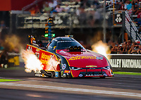 Jun 15, 2018; Bristol, TN, USA; NHRA funny car driver Courtney Force during qualifying for the Thunder Valley Nationals at Bristol Dragway. Mandatory Credit: Mark J. Rebilas-USA TODAY Sports