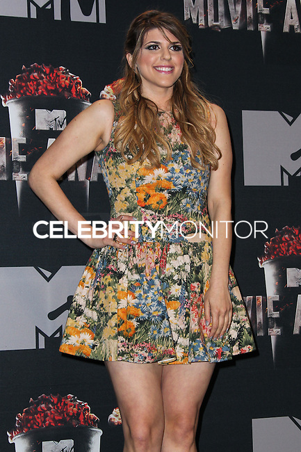LOS ANGELES, CA, USA - APRIL 13: Molly Tarlov in the press room at the 2014 MTV Movie Awards held at Nokia Theatre L.A. Live on April 13, 2014 in Los Angeles, California, United States. (Photo by Xavier Collin/Celebrity Monitor)