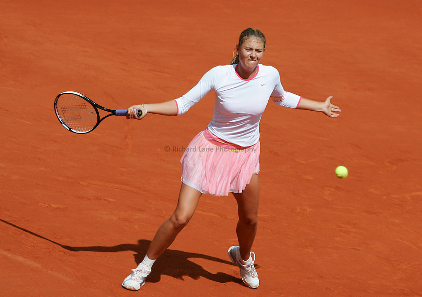 Photo: Iconsport/Richard Lane Photography..Roland Garros 2006..31/05/2006..Maria Sharapova.