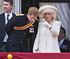 CAMILLA AND PRINCE HARRY<br /> appear on the balcony of Buckingham Palace to watch the Royal Air Force Flypast as part of the Trooping of the Colour, London_15th June 2013<br /> The annual event marks the Queen's Official Birthday.<br /> Photo Credit: &copy;Dias/NEWSPIX INTERNATIONAL<br /> <br /> **ALL FEES PAYABLE TO: &quot;NEWSPIX INTERNATIONAL&quot;**<br /> <br /> PHOTO CREDIT MANDATORY!!: NEWSPIX INTERNATIONAL<br /> <br /> IMMEDIATE CONFIRMATION OF USAGE REQUIRED:<br /> Newspix International, 31 Chinnery Hill, Bishop's Stortford, ENGLAND CM23 3PS<br /> Tel:+441279 324672  ; Fax: +441279656877<br /> Mobile:  0777568 1153<br /> e-mail: info@newspixinternational.co.uk