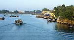 Hoi An Dawn 05 - Boats on the Thu Bon river at dawn, Hoi An, Viet Nam