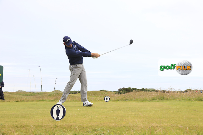 Gary WOODLAND (USA) tees off the 15th tee during Monday's Final Round of the 144th Open Championship, St Andrews Old Course, St Andrews, Fife, Scotland. 20/07/2015.<br /> Picture Eoin Clarke, www.golffile.ie