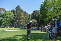 Tyrell Hatton (ENG) chips on to 2 during round 4 of the World Golf Championships, Mexico, Club De Golf Chapultepec, Mexico City, Mexico. 3/4/2018.<br /> Picture: Golffile | Ken Murray<br /> <br /> <br /> All photo usage must carry mandatory copyright credit (&copy; Golffile | Ken Murray)