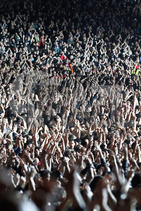LISBOA, PORTUGAL, 25 DE MAIO 2012 - ROCK IN RIO LISBOA - METALLICA  - Apresentacao da banda Metallica  no palco Mundo, no primeiro dia do Rock In Rio Lisboa na cidade do Rock em Lisboa Portugal nessa sexta feira 25. FOTO: VANESSA CARVALHO - BRAZIL PHOTO PRESS.