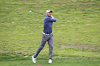 Maximilian Kieffer (GER) on the 1st fairway during Round 1 of the Open de Espana 2018 at Centro Nacional de Golf on Thursday 12th April 2018.<br /> Picture:  Thos Caffrey / www.golffile.ie<br /> <br /> All photo usage must carry mandatory copyright credit (&copy; Golffile | Thos Caffrey)
