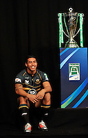 London, England. George Pisi of Northampton Saints looks on during the UK Heineken Cup and Amlin Challenge Cup season launch at SKY Studios on October 1, 2012 in London, England.