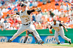 30 June 2005: Kip Wells, starting pitcher for the Pittsburgh Pirates, pitched only 2 innings, giving up 4 runs, in a game against the Washington Nationals. The Nationals defeated the Pirates 7-5 to sweep the 3-game series at RFK Stadium in Washington, DC.  Mandatory Photo Credit: Ed Wolfstein