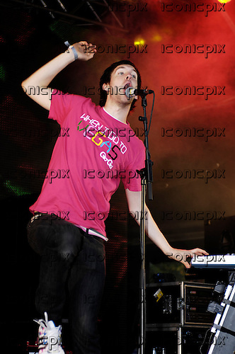 Calvin Harris - performing live on Day One at the Electric Gardens Festival in Faversham, Kent UK - 04 Aug 2007.  Photo credit: George Chin/IconicPix