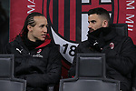 Diego Laxalt and Mateo Musacchio of AC Milan talk on the bench during the Coppa Italia match at Giuseppe Meazza, Milan. Picture date: 13th February 2020. Picture credit should read: Jonathan Moscrop/Sportimage