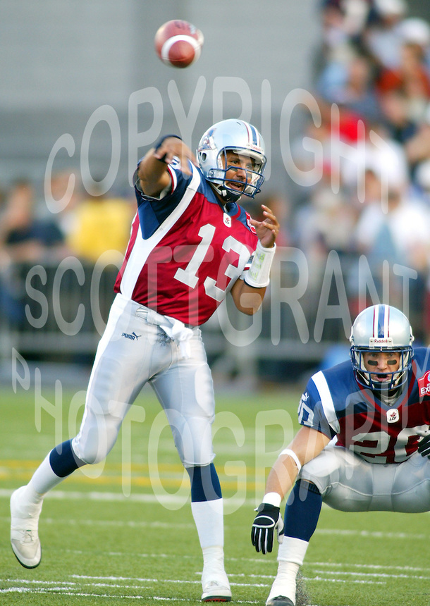 Anthony Calvillo Montreal Alouettes. Photo F. Scott Grant