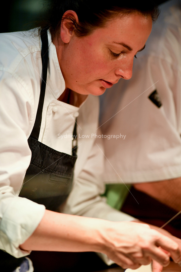 MELBOURNE, 30 June 2017 – Sasha Randle in the kitchen during a dinner celebrating Philippe Mouchel's 25 years in Australia with six chefs who worked with him in the past at Philippe Restaurant in Melbourne, Australia.
