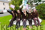 Students from Presentation Secondry, Listowel who completed their first exam in the Leaving cert on Wednesday last. L-R; Marie Kennelly, Mairead Sheehy, Roisin Walsh, Emer Daly & amy Carmody.