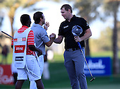 Stephen Gallacher (SCO) wins the tournament by 3 shots with a score  of -22 with runner up Richard Sterne (RSA) at the end of Sunday's Final Round of the 2013 Omega Dubai Desert Classic held at the Emirates Golf Club, Dubai, 3rd February 2013..Photo Eoin Clarke/www.golffile.ie