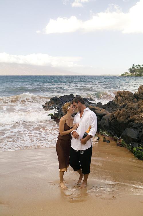 Couple on the beach at Wailea, Maui, Hawaii