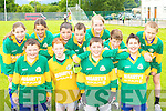 Loughquittane NS at the National Schools football blitz in Dr Crokes GAA grounds on Friday front row l-r: Kevin Looney, Alexander Bruggener, Stephen Nagle-Moriarty, Aaron Fleming. Back row: Karl Fleming, Martha Quirke, John Murhill, Luke McCabe, Kathleen Horan, Aaron Quigley and Aydan Mulvaney..   Copyright Kerry's Eye 2008
