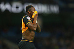 Hull's Moses Odubajo dejected - Manchester City vs Hull City - Capital One Cup - Etihad Stadium - Manchester - 29/12/2015 Pic Philip Oldham/SportImage