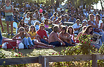 Third annual Mountain Aire Renaissance Fair and Musical festival produced by Rock'n Chair Productions.  People came from all over Northern California to see and hear Seals and Crofts, Nils Lofgren, Pure Prairie League, Poco and Home Grown on June 13, 1976 at the Calaveras County Fairground near Angle Camp California.  Photo by Al Golub