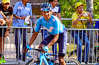 MEDELLIN - COLOMBIA, 15-02-2019: Nairo Quintana (COL), Movistar team, durante la cuarta etapa del Tour Colombia 2.1 2019 con un recorrido de 144 Km, que se corrió con salida y llegada en el estadio Atanasio Girardot de la ciudad de Medellín. / Nairo Quintana (COL), Movistar team, during the four stage of 144 km of Tour Colombia 2.1 2019 that ran with start and arrival in Atanasio Girardot stadium in Medellin city.  Photo: VizzorImage / Anderson Bonilla / Cont