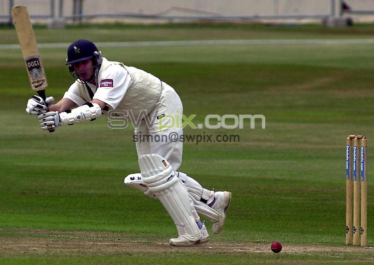 Pix: Matthew Lewis/SWpix.com. Cricinfo Championships, Headingley, Leeds. 29/06/2001...COPYWRIGHT PICTURE>>SIMON WILKINSON>>01943 436649>>..Yorkshires Matthew Wood hits a four against Leicestershire.