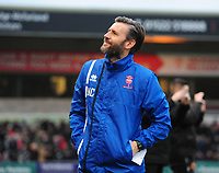 Lincoln City's assistant manager Nicky Cowley<br /> <br /> Photographer Chris Vaughan/CameraSport<br /> <br /> The EFL Sky Bet League Two - Lincoln City v Notts County - Saturday 13th January 2018 - Sincil Bank - Lincoln<br /> <br /> World Copyright &copy; 2018 CameraSport. All rights reserved. 43 Linden Ave. Countesthorpe. Leicester. England. LE8 5PG - Tel: +44 (0) 116 277 4147 - admin@camerasport.com - www.camerasport.com