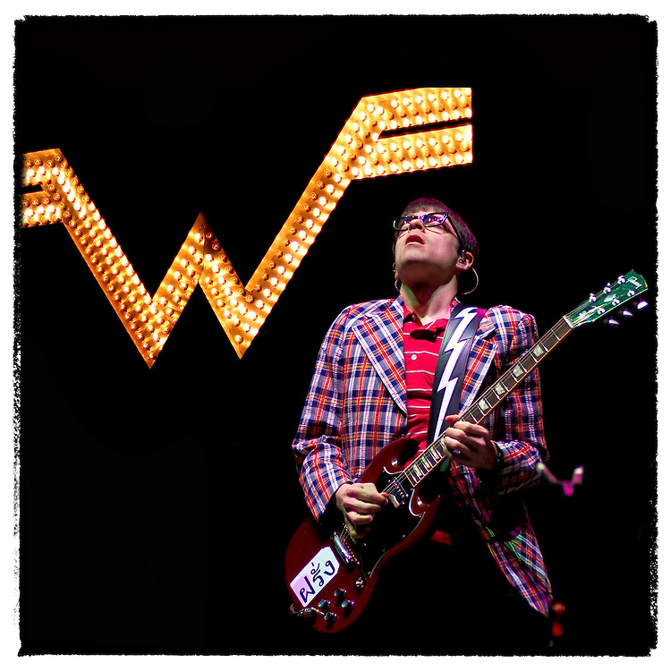 Rivers Cuomo of Weezer takes the main stage at Coachella Saturday, April 30, 2005