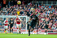 Tammy Abraham of Swansea City chases the ball during the Premier League match between Arsenal and Swansea City at Emirates stadium, London, England, UK. Saturday 28 October 2017