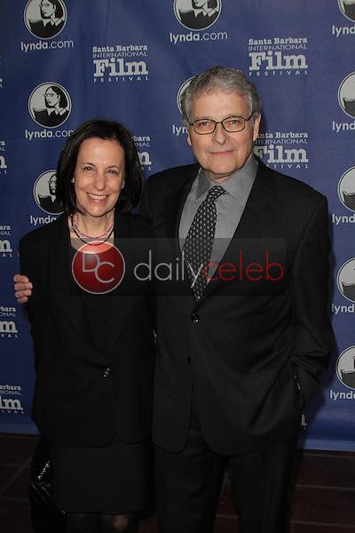 "Meg Kasdan and Lawrence Kasdan<br /> at the 27th Annual Santa Barbara Film Festival Opening Night Premiere of ""Darling Companion,""  Arlington Theater, Santa Barbara, CA 01-26-12<br /> David Edwards/DailyCeleb.com 818-249-4998"