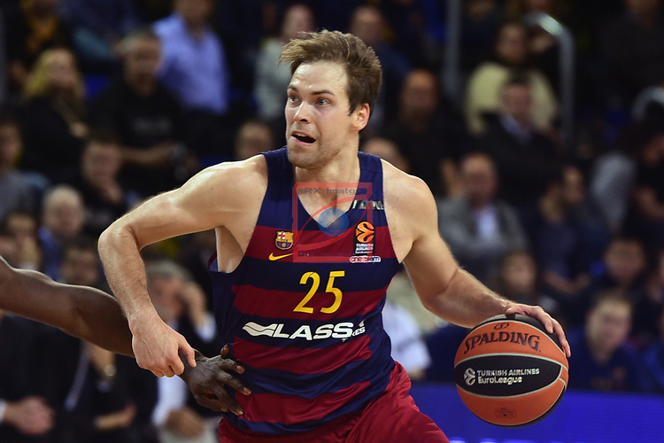 Turkish Airlines Euroleague 2016/2017.<br /> Regular Season - Round 28.<br /> FC Barcelona Lassa vs Crvena Zvezda MTS Belgrade: 67-54.<br /> Petteri Koponen.