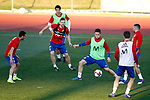 Spain's Pedro Rodriguez, Alvaro Morata, Asier Illarramendi, Ander Herrera, Nacho Fernandez and Jordi Alba during training session. March 20,2017.(ALTERPHOTOS/Acero)