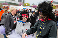 NWA Democrat-Gazette/BEN GOFF @NWABENGOFF<br /> Tamarah Cole and husband Alex Cole of Rogers, with the Walmart team, have a laugh Saturday, April 13, 2019, before taking part in the Northwest Arkansas Heart Walk starting from the Walmart Arkansas Music Pavilion in Rogers. This year is the 25th anniversary for the American Heart Association's annual walk with locations around the country. This year's Northwest Arkansas walk raised more than $1 million with donations still coming in as of Saturday morning, said to Lauren Wheeler with the American Heart Association Northwest Arkansas.