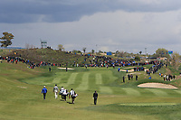 George Coetzee (RSA), Matteo Manassero (ITA) and Thongchai Jaidee (THA) walking down the 1st during Round 2 of the Open de Espana 2018 at Centro Nacional de Golf on Friday 13th April 2018.<br /> Picture:  Thos Caffrey / www.golffile.ie<br /> <br /> All photo usage must carry mandatory copyright credit (&copy; Golffile | Thos Caffrey)