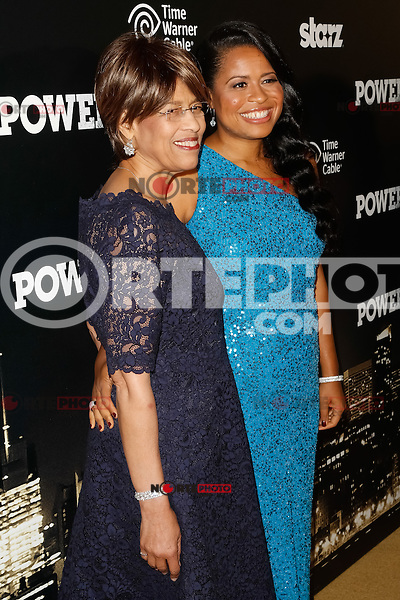 New York, NY -  June 2 : Executive Producer Courtney Kemp Agboh and Guest attend the Power Premiere held at the Highline Ballroom on June 2, 2014 in New York City. Photo by Brent N. Clarke / Starlitepics