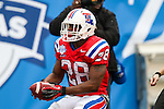 Louisiana Tech Bulldogs running back Kenneth Dixon (28) in action during the Heart of Dallas Bowl Bowl game between the Illinois Fighting Illini and the Louisiana Tech Bulldogs at the Cotton Bowl Stadium in Dallas, Texas. Louisiana defeats Illinois 35 to 18.
