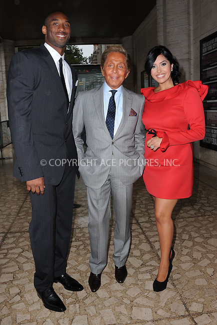 WWW.ACEPIXS.COM . . . . . ....September 7 2011, New York City....Kobe Bryant, Valentino and Vanessa Bryant arriving at The Couture Council of The Museum at the Fashion Institute of Technology (FIT) 2011 Couture Council Award for Artistry of Fashion honoring Valentino on September 7, 2011 at the David H. Koch Theater, Lincoln Center, New York City....Please byline: KRISTIN CALLAHAN - ACEPIXS.COM.. . . . . . ..Ace Pictures, Inc:  ..tel: (212) 243 8787 or (646) 769 0430..e-mail: info@acepixs.com..web: http://www.acepixs.com