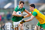 Jack Savage  Kerry in action against Stephen McBrearty Donegal in the Allianz Football League Division 1 Round 1 match between Kerry and Donegal at Fitzgerald Stadium in Killarney, Co. Kerry.