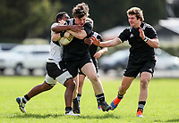 Seb Calder in action during the rugby union match between New Zealand Schools and Fiji Schools at Hamilton Boys' High School in Hamilton, New Zealand on Monday, 30 September 2019. Photo: Simon Watts / lintottphoto.co.nz