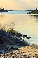 Sandstrand på Utö  med Mysingen i Stockholms skärgård