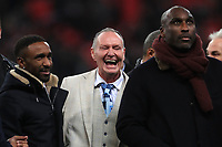 Jermain Defoe, Paul Gascoigne and Sol Campbell on the pitch at half time during the UEFA Euro 2020 Qualifying Group A match between England and Montenegro at Wembley Stadium on November 14th 2019 in London, England. (Photo by Matt Bradshaw/phcimages.com)<br /> Foto PHC Images / Insidefoto <br /> ITALY ONLY