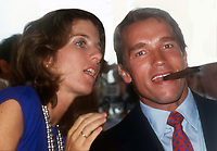 Caroline Kennedy and Arnold Schwarzenegger circa 1980's<br /> Photo By John Barrett/PHOTOlink