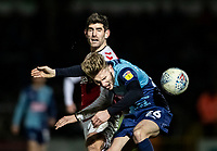 Fleetwood Town's Ched Evans competing with Wycombe Wanderers' Jason McCarthy (right) <br /> <br /> Photographer Andrew Kearns/CameraSport<br /> <br /> The EFL Sky Bet League One - Wycombe Wanderers v Fleetwood Town - Tuesday 11th February 2020 - Adams Park - Wycombe<br /> <br /> World Copyright © 2020 CameraSport. All rights reserved. 43 Linden Ave. Countesthorpe. Leicester. England. LE8 5PG - Tel: +44 (0) 116 277 4147 - admin@camerasport.com - www.camerasport.com