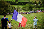 172 riders start Stage 9 of the 2019 Tour de France running 170.5km from Saint-Etienne to Brioude, France. 14th July 2019.<br /> Picture: ASO/Pauline Ballet | Cyclefile<br /> All photos usage must carry mandatory copyright credit (© Cyclefile | ASO/Pauline Ballet)
