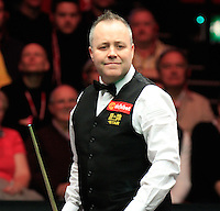 John Higgins ponders over his next shot during the Dafabet Masters Q/F 4 match between John Higgins and Stuart Bingham at Alexandra Palace, London, England on 15 January 2016. Photo by Liam Smith / PRiME Media Images