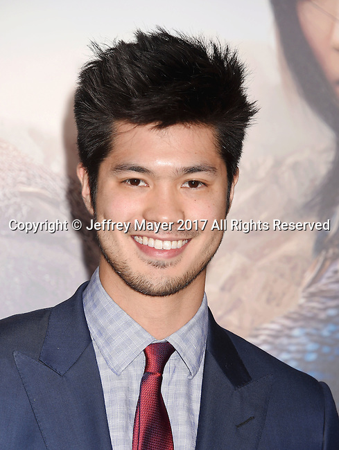 HOLLYWOOD, CA - FEBRUARY 15: Actor Ross Butler arrives at the premiere of Universal Pictures' 'The Great Wall' at TCL Chinese Theatre IMAX on February 15, 2017 in Hollywood, California.