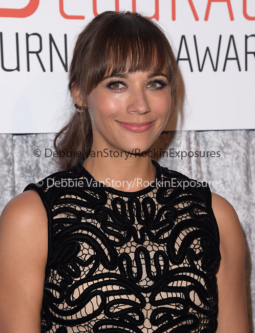 Rashida Jones attends The IWMF Courage in Journalism Awards held at The Beverly Hilton Hotel in Beverly Hills, California on October 28,2014                                                                               © 2014 Hollywood Press Agency