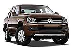 Low aggressive passenger side front three quarter view of a 2012 Volkswagen Amarok Trendline Truck.
