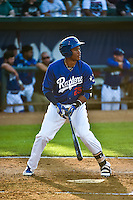 Michael Medina (25) of the Ogden Raptors at bat against the Idaho Falls Chukars in Pioneer League action at Lindquist Field on June 22, 2015 in Ogden, Utah. The Chukars defeated the Raptors 4-3 in 11 innings. (Stephen Smith/Four Seam Images)