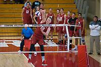 STANFORD, CA - December 30, 2017: Jordan Ewert at Burnham Pavilion. The Stanford Cardinal defeated the Calgary Dinos 3-1.