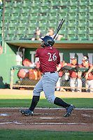 Alexis Rivera (26) of the Idaho Falls Chukars at bat against the Ogden Raptors in Pioneer League action at Lindquist Field on June 23, 2015 in Ogden, Utah. Idaho Falls beat the Raptors 9-6. (Stephen Smith/Four Seam Images)